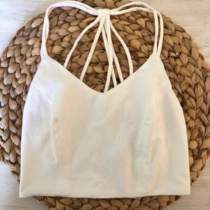 Cream colored crop top. Size small.